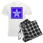 Purple and White Star Snowflake Men's Light Pajama