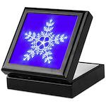 Purple and White Star Snowflake Keepsake Box