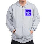 Purple and White Star Snowflake Zip Hoodie