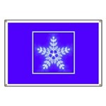 Purple and White Star Snowflake Banner