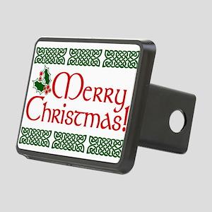 Merry Christmas Rectangular Hitch Cover