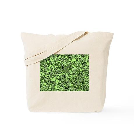 Green Slime pattern Tote Bag