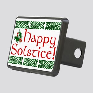 Happy Solstice Rectangular Hitch Cover