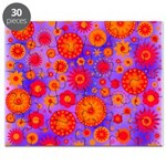 Orange Red and Purple Hippie Flower Pattern Puzzle