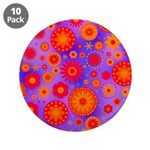Orange Red and Purple Hippie Flower Pattern 3.5