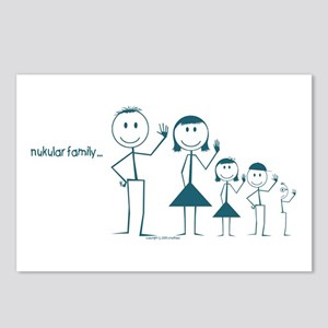 nuclear family 2.5 kids Postcards (8)