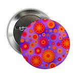 Orange Red and Purple Hippie Flower Pattern 2.25