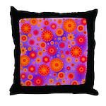Orange Red and Purple Hippie Flower Pattern Throw