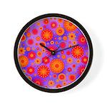 Orange Red and Purple Hippie Flower Pattern Wall C