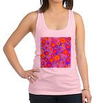 Orange Red and Purple Hippie Flower Pattern Racerb