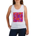 Orange Red and Purple Hippie Flower Pattern Women'