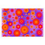 Orange Red and Purple Hippie Flower Pattern Large