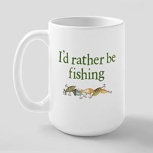 """I'd Rather Be Fishing"" Large Mug"
