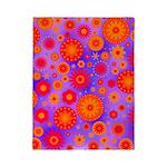 Orange Red and Purple Hippie Flower Pattern Twin D