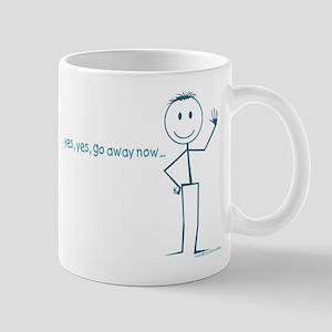 go away mug smiley head attitude cool & fun