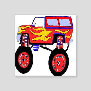 "Monster Truck Square Sticker 3"" x 3"""