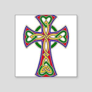 "Primary Celtic Cross Square Sticker 3"" x 3"""