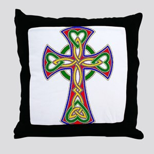 Primary Celtic Cross Throw Pillow