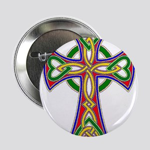 "Primary Celtic Cross 2.25"" Button"