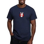 The Rabbit Pirate Men's Fitted T-Shirt (dark)