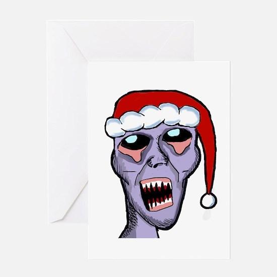 Santa Zombie Greeting Card