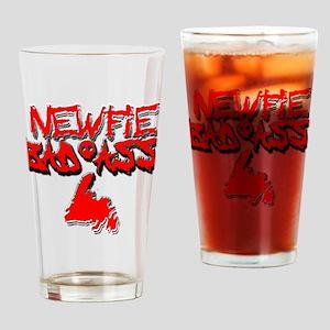Newfie Bad Ass Drinking Glass