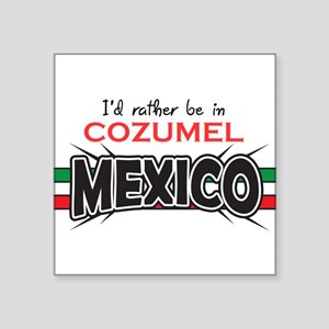 "Cozumel Mexico Square Sticker 3"" x 3"""