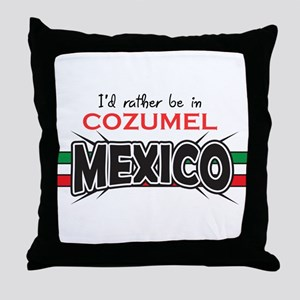 Cozumel Mexico Throw Pillow