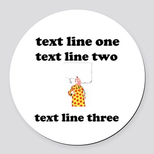 your text here Round Car Magnet