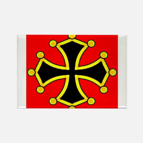Cathar Cross Rectangle Magnet
