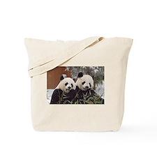 Pandas Eating Tote Bag