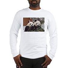 Pandas Eating Long Sleeve T-Shirt
