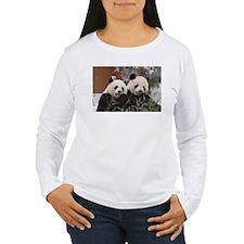 Pandas Eating Women's Long Sleeve T-Shirt