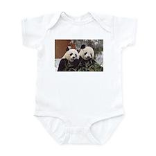 Pandas Eating Infant Bodysuit