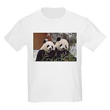 Pandas Eating Kids Light T-Shirt