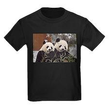Pandas Eating Kids Dark T-Shirt
