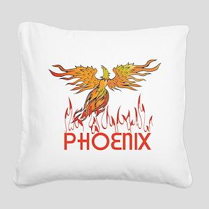 Phoenix Square Canvas Pillow