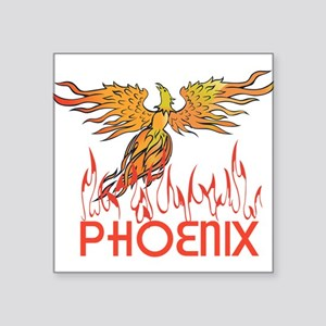 "Phoenix Square Sticker 3"" x 3"""