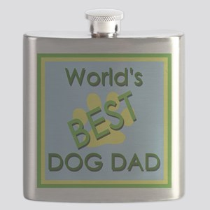 World's Best Dog Dad Flask