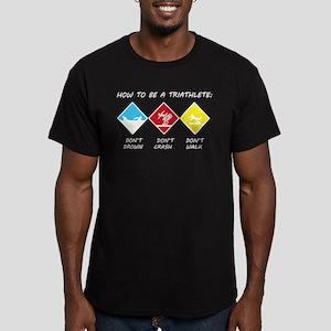 Triathlete Men's Fitted T-Shirt (dark)