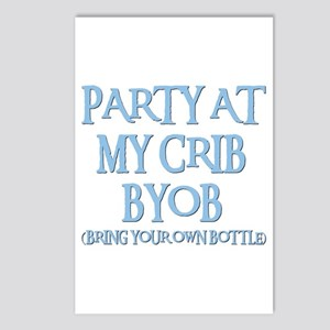 PARTY AT MY CRIB Postcards (Package of 8)