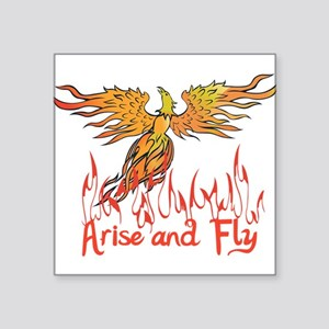 "Arise and Fly Square Sticker 3"" x 3"""