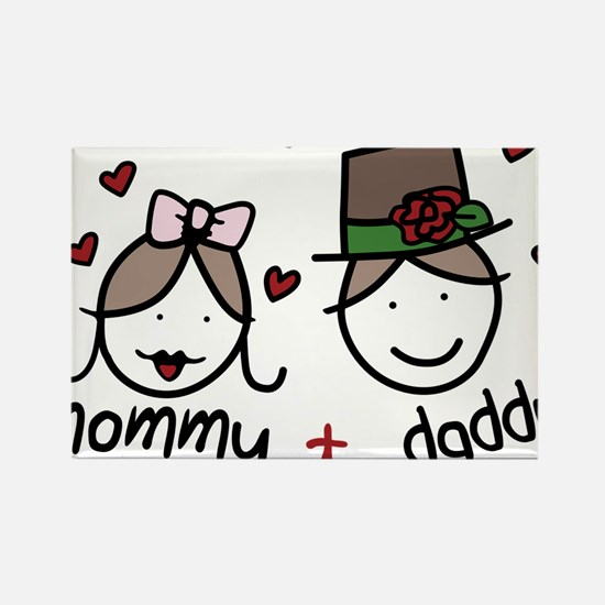 Mommy And Daddy Rectangle Magnet