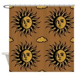 Southwestern Sun and Clouds Shower Curtain