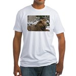 Lion in Snow Fitted T-Shirt