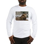 Lion in Snow Long Sleeve T-Shirt