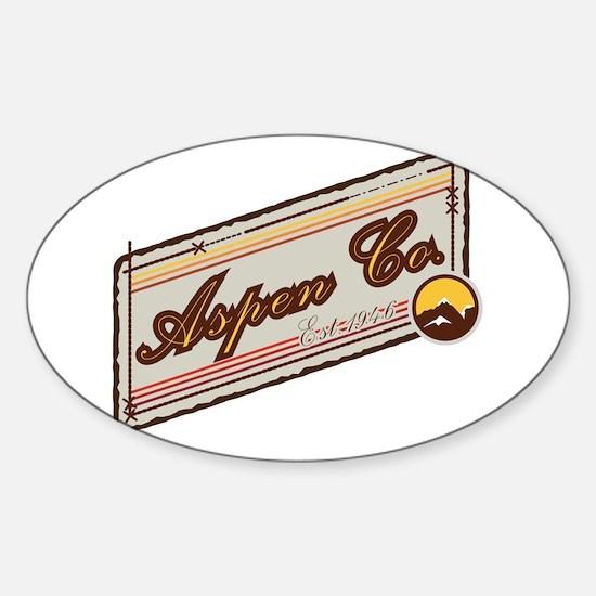 Aspen Mountain Patch Sticker (Oval)