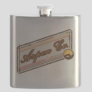 Aspen Mountain Patch Flask