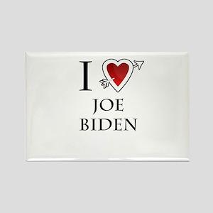 i love Joe Biden heart Rectangle Magnet