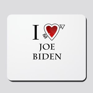 i love Joe Biden heart Mousepad